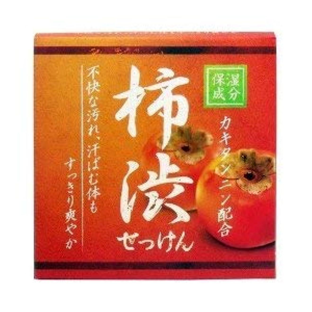 質量忌まわしいによると柿渋配合せっけん カキタンニン配合保湿成分 80g×2 2個1セット 石鹸