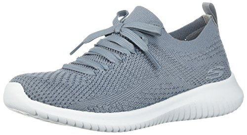 Skechers Damen Ultra Flex Statements-12841 Sneaker, Grau (Slate), 39 EU