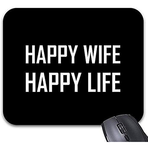 Smity Mausunterlage 30 * 25 * 0,3 cm Mauspad Fashion Designed Mousepads Glückliche Frau Glückliches Leben Mauspad