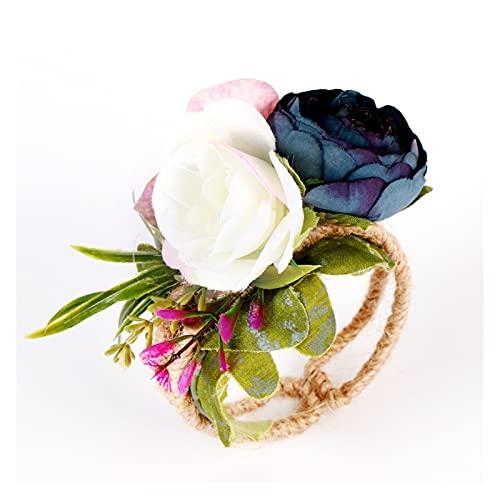 LQHZ Flor de muñeca Boda muñeca Flores Dama de Honor Novia Woodland muñeca Mano Flores Manguito Pulsera brazaletes Boda Accesorios de Baile Exquisito y practico (Color : A-3)