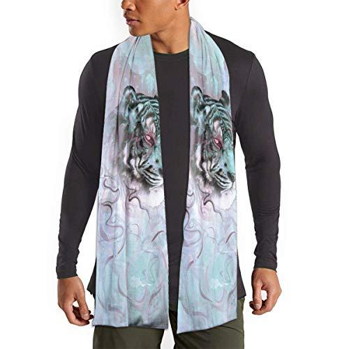 gong Illusive by Nature - Bufanda de tigre para mujer, hombre, ligera, unisex, a la moda, otoño invierno, bufandas, chal