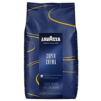 Lavazza Super Crema Coffee Beans 1kg x 6 + 50 Lotus Biscuits Value Pack (6 Bags + 50 Biscuits)