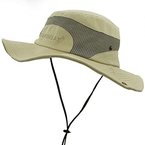 JAOAJ Cappello da Sole per Uomo, Cappello Estivo con Protezione UV, Cappello Safari in Rete Traspirante Regolabile Pieghevole