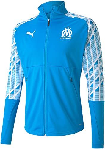 Puma - Mens Om Stadium Jacket, Size: Medium, Color: Bleu Azur/Puma White