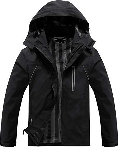 Men's Lightweight Windbreaker Rain Jacket Waterproof Breathable Coat