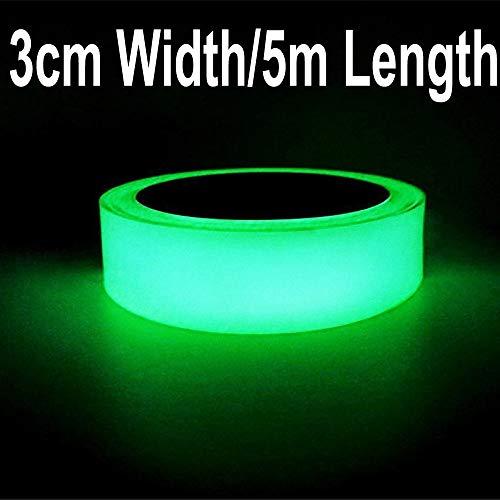 Gebildet Glow in the Dark Zelfklevende Tape,Groen Licht Lichtgevende Tape Sticker,16.4ft×1.2 inch(5m*3cm):Waterdicht,Verwijderbaar,Duurzaam,Draagbaar,Stabiel,Veiligheid