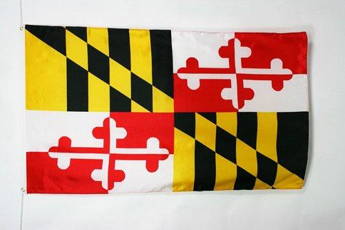 AZ FLAG Drapeau Maryland 150x90cm - Drapeau Etat américain - USA - Etats-Unis 90 x 150 cm - Drapeaux