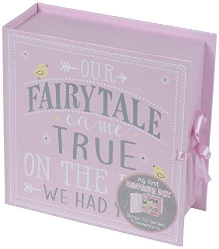 Tri-Coastal Design - Erste Baby-Erinnerungsbox mit 9 Schubladen zur Aufbewahrung besonderer Erinnerungsstücke und Schätze eines Kindes (Fairytale)