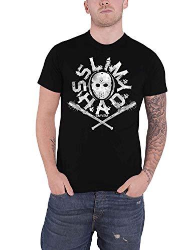Eminem T Shirt Slim Shady Hockey Mask Logo Nue offiziell Herren