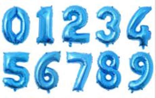 LASISZ Globos de cumpleaños de Papel Grande de 32 Pulgadas Globos de número de Helio aéreo Figuras de Feliz cumpleaños Decoraciones de Fiesta Globos para niños Globo de cumpleaños, N5,1
