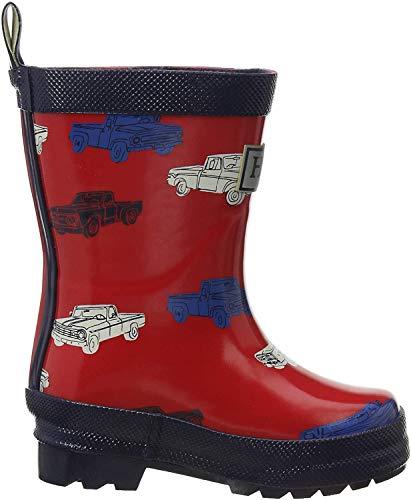 Hatley Boys' Toddler Printed Rain Boots, Farm Tractors, 4 US Child