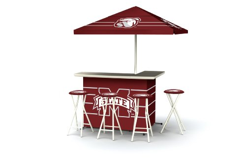 Best of Times Collegiate Patio Bar and Tailgating Center Deluxe Package- Mississippi State