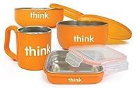 Thinkbaby 完全なBPAフリー給餌セット、オレンジ、6ヶ月間