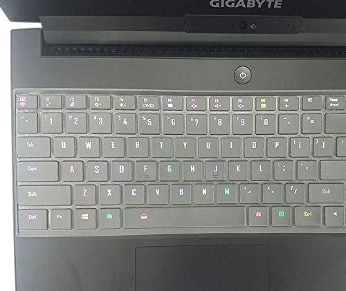 "Ultra Thin Keyboard Cover Protector Skin for Gigabyte Aero 15 15X v8 v8-BK4, Aero 15W 15W-BK4 15.6"" i5 i7 GTX 1060"