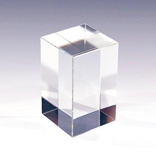NKTR-0263 クリスタルペーパーウェイト 文鎮 60x60x100mmキューブ ガラス素材 撮影 ディスプレイ ブックエンド 本立て