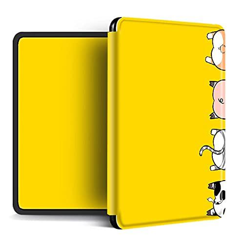 UBBVPKY Funda para Kindle - Funda para Kindle 2019, Lindo Animal Compatible con Funda Amazon Kindle Paperwhite 1/2/3/4 / Kindle Oasis 2/3 (Función Auto Sleep/Wake), Estilo 1, para Pq94Wif