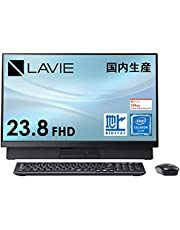 NEC 液晶一体型 デスクトップパソコン LAVIE Direct DA(S) 国内生産 (23.8インチ FHD/Celeron/8GB メモリ/1TB HDD/地デジ/ブラック)(Office Home & Business 2019)(Windows 10 Home) WEB限定モデル【Windows 11 無料アップグレード対応】