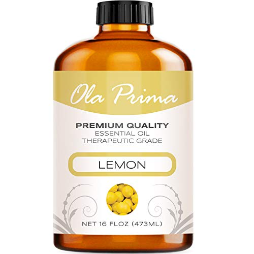 Ola Prima 16oz - Premium Quality Lemon Essential Oil (16 Ounce Bottle) Therapeutic Grade Lemon Oil