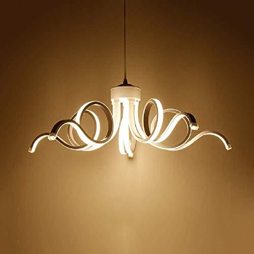 GaoF 65W LED Lámpara Colgante Cocina Moderna Isla Candelabro Dormitorio Decoración AC110-240V Luz de Techo Personalidad Creatividad Iluminación Colgante Acrílico 5 Luces Ajustable MAX