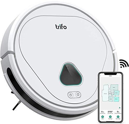 Trifo Max - Potente Robot Aspirapolvere Senza Fili con Telecamera di Sorveglianza con AI, App per Controllo Manuale, Auto Ricarica e Compatibile con Alexa - 3.000Pa, Bianco