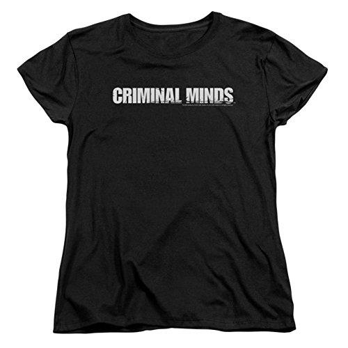 Criminal Minds - Camiseta feminina com logotipo Criminal Minds em preto