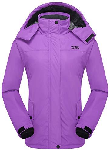 ZSHOW Damen bergwasserdichte Fleece Skijacke Snowboard Jacke Winddicht isolierte mittel lila