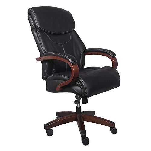 Meng Verstellbare Kopfstütze und Rückenstütze-Stuhl High Back Bonded Leather Bürodrehsessel Computer Stuhl Mitarbeiter Stuhl mit Lift und Swivel-Funktion, Ergonomie und komfortabel