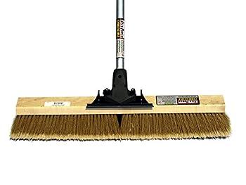 FlexSweep Flex-Power Unbreakable Commercial Push Broom  Contractors 24 Inch  Medium Bristles Multi Surface