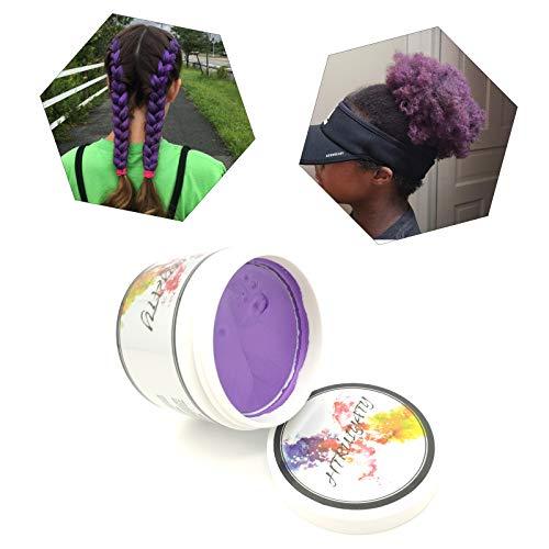 Cire Colorante Cheveux Lavable Jetable Coloration Temporaire Diy Unisexe Cire Couleur Cheveux Convient Pour La FêTe De NoëL D'Halloween-Violet