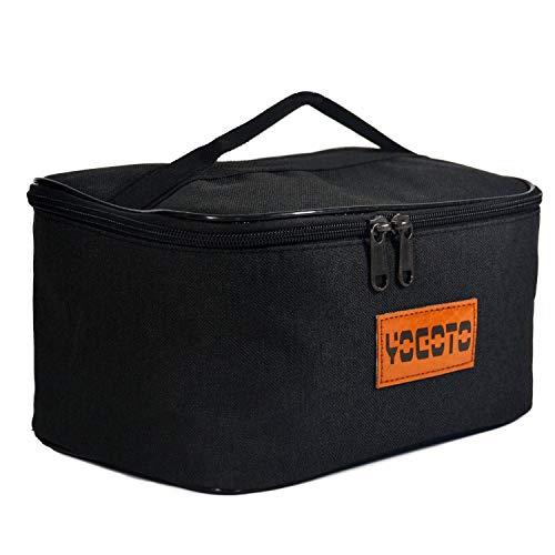 【YOGOTO】 スパイスボックス 調味料ケース ランチボックス キャンプ アウトドア BBQ (黒)