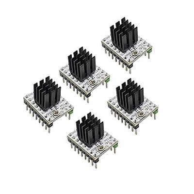 5pcs MKS 3D Printer 2208 TMC2208 Stepper Motor Driver V2.0 StepStick Ultra Silent Compatible with MKS SGen L Gen L Robin Nano, SKR 1.3/1.4 Controller Board
