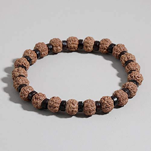 K-ONE Vajra Bodhi Beads Bracelets Nature Bracelets Women Religious Buddha Meditation Buddhism Jewelry-20Cm For Boy