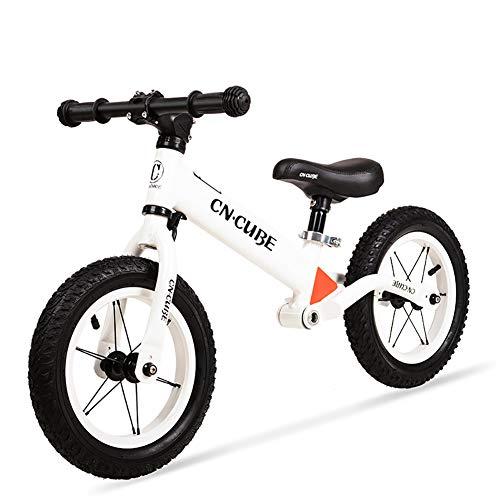 TOYSBBS 12 Sport - Bicicleta sin Pedales Ultraligera - para niños de 18 Meses, 2,3, 4 y 5 años, sillín Ajustable, 12 Pulgadas,Blanco