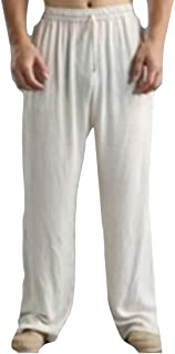 Mens Drawstring Loose Fit Straight Elastic Waist Workout Lounge Pant