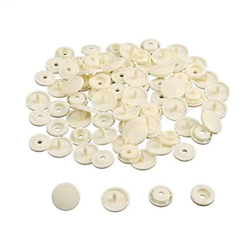 20 sets mix 36 kleuren drukknoop 12mm ronde 10,5 mm plaksteen bevestigingsmiddelen voorblad knop voor kledingstuk decoratieve kleding benodigdheden, ivoor
