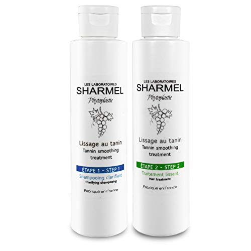 KIT LISSAGE AU TANIN - SHARMEL - 100% FRANÇAIS - (2 x 150 ml - 2 applications) - ENRICHI...