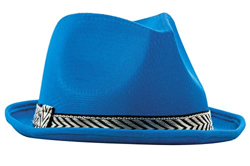 Party Pro 87341, Chapeau borsalino polyester SOUPLE, Turquoise