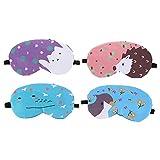 HEALLILY 4 Unidades de Máscaras de Ojos Refrigerantes de Dibujos Animados de Gel de Hielo Compresa Fría Viajes Dormir Ojos Sombreados Parches Fundas para Ojos Hinchados Jaqueca Alivio Ojos