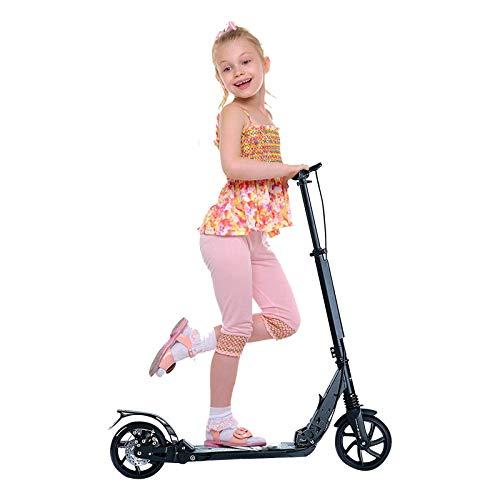 XUEZHEN Patinete Kick Scooter, Patinete Plegable De Aleación De Aluminio con Altura Ajustable, Ruedas De Scooter para Adultos O Niños Scooter, Fuerte Capacidad De Carga/Negro