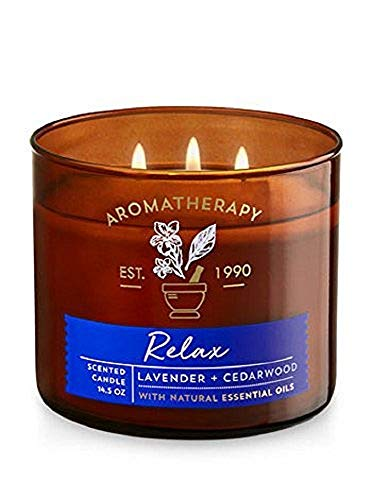 Bath & Body Works 3Wick Candle-Relax-Lavender...