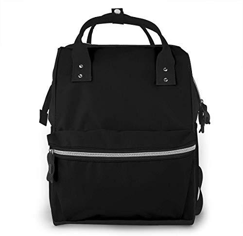 Sac à langer de grande capacité, étanche, sac de remplacement pour soins de bébé, polyvalent élégant et durable, convient pour maman et papa (tête d'élan noir)