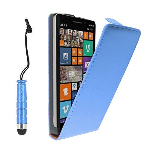 ebestStar - kompatibel mit Nokia Lumia 930 Hülle PU Kunstleder Etui mit Klappe, Handyhülle Schutzhülle Hülle Cover + Mini Stift, Blau [Lumia 930: 137 x 71 x 9.8mm, 5.0'']