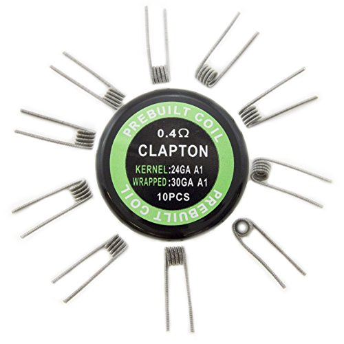 EX ELECTRONIX EXPRESS Pack of 10 pre-Built Clapton Coil Wires for D.I.Y. Projects