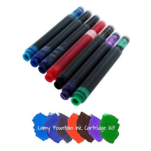 Lamy T10 - Cartuchos de tinta para pluma estilográfica (7 unidades), varios colores