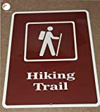 Hiking Trail Sign, Hiking Sign, Outdoor Signs, Fishing, Hunting, Camping, Decor Retro Wall Home Bar Pub Vintage Cafe Decor, 8x12 Inch