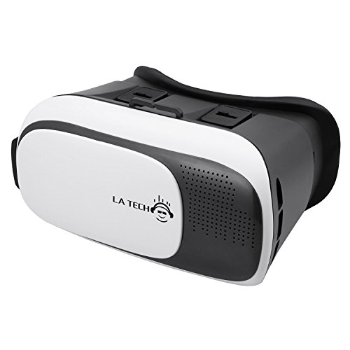 """LA TECH 3D Videobrille einstellbar VR Virtual Reality Brille VR Brille für 3D Filme und Spiele 3.5 """"-6"""" Smartphones Handys H023"""