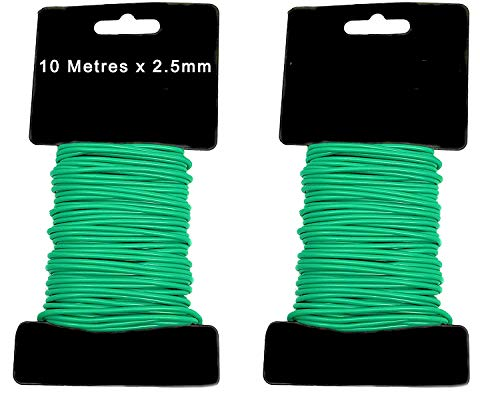 Bee Different Ltd Plant Ties Garden Wire Slim Soft Twist Plant Tie Plant Support Rubber 10m X 2.5mm X 2 Packs - Gardening - Climbing Plants - Tomato Plants - Outdoor - Gardener - Bamboo - Tree