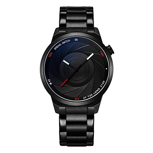 BREAK Creative Watches Men Women Unisex Watch Stainless Steel Watch(The Built-in Battery of This Product May be Almost Dead! The Price has Dropped