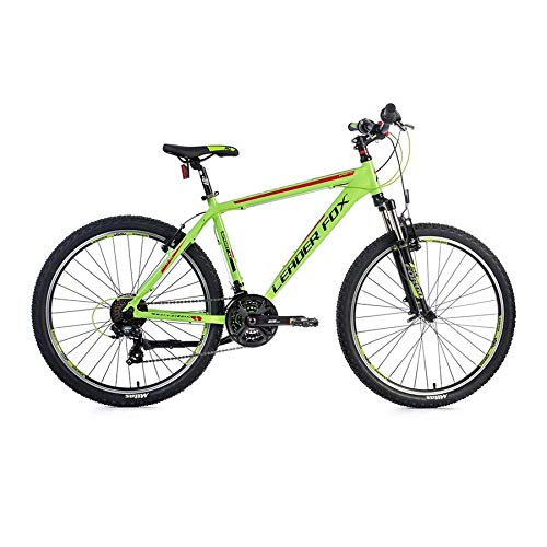 26 Zoll Leader Fox MXC Fahrrad Mountain Bike 21 Gang Shimano Rh 36cm grün rot