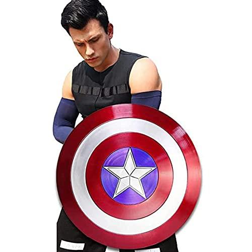 MOMAMOM Escudo Capitan America Adulto ABS 1: 1 Apoyos de Película Escudo Capitan America Niños Capitán América Disfraz Shield para niños y fanáticos de Cosplay 57cm / 22.4in